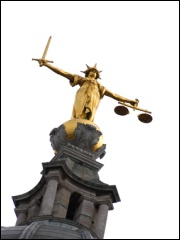 Image of the Scales of Justice at the Old Bailey